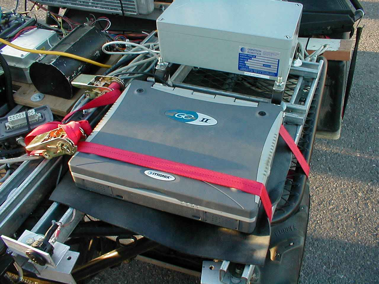 A few teams used hardened laptops for vehicle control. SciAutonics'